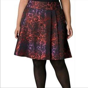 nwot Lane Bryant Mini Skirt Red Purple Floral 22